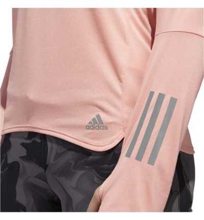 Camiseta M/l Running ADIDAS Rs Ls Zip Tee W