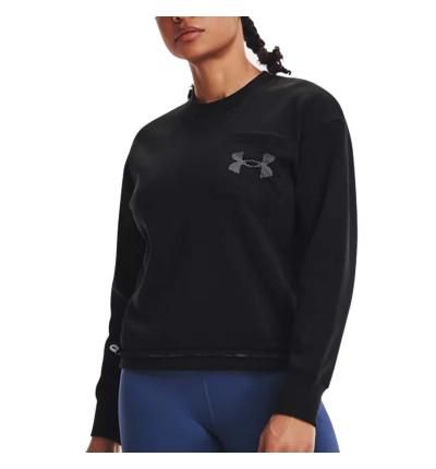 Sudadera Fitness_Mujer_UNDER ARMOUR Ua Rival Fleece Mesh Crew