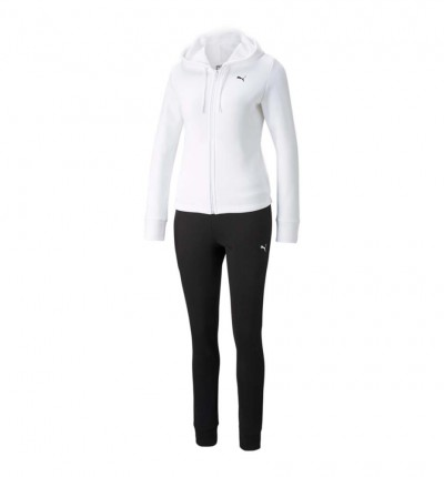 Chándal Casual_Mujer_PUMA Classic Hooded Sweat Suit Fl