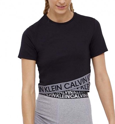 Camiseta M/c Fitness_Mujer_CALVIN KLEIN Wo Cropped Ss T-shirt