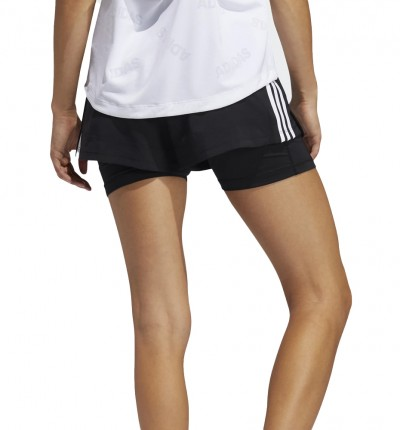 Mallas Short Fitness_Mujer_ADIDAS Pacer 3s 2 In 1