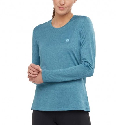 Camiseta M/l Trail_Mujer_SALOMON Cm Ml Agile Ls Tee W