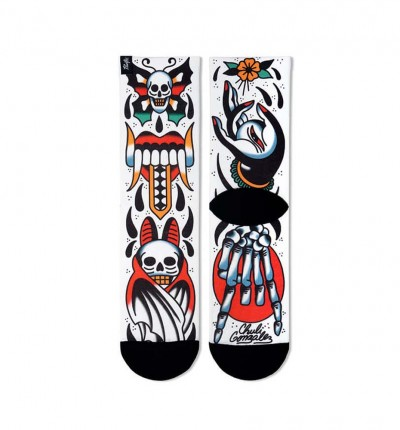 Calcetines Running_Unisex_PACIFIC AND COLORS Skull