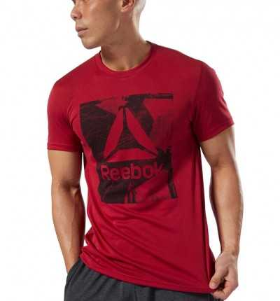 Camiseta M/c Casual REEBOK Wor Tech Top Graphi Crared