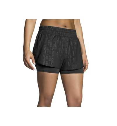 "Short Malla Running BROOKS Circuit 3""2 In 1"