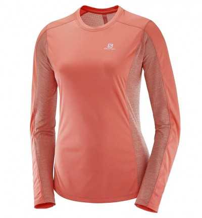 Camiseta M/l Trail_Mujer_SALOMON Agile Ls Tee