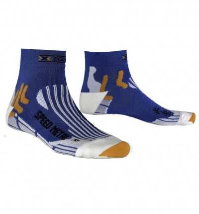 Calcetines Running X-SOCKS Speed Metal Blue/white