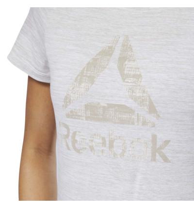 Camiseta M/c Casual REEBOK El Marble Logo Tee  Parchm
