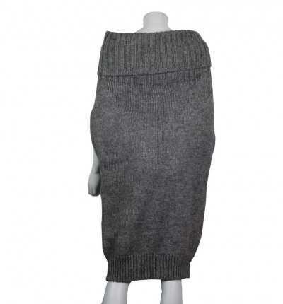 Poncho Vestido Armani Sweater 6xtmz5 Wo Gris