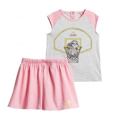 Conjunto - Short & Shirt Casual_Bebe_ADIDAS I Animal Set G