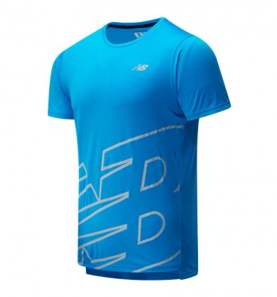 Camiseta Running Hombre NEW BALANCE Printed Accelerate Ss