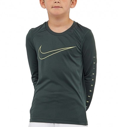Camiseta Running ml Niño Nike Dry Running Top Boys