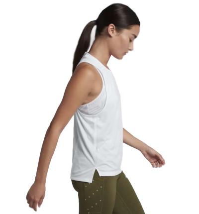 Camiseta sin mangas Running Mujer Nike Dri Fit Miler Tank