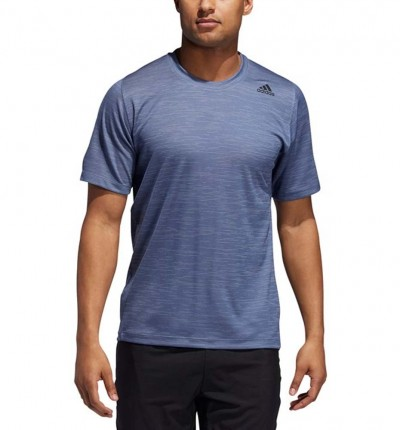 Camiseta M/c Fitness Hombre ADIDAS FreeLift Tech Fitted Striped Heathered Tee