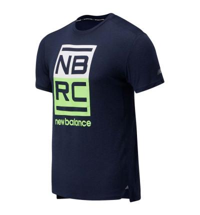Camiseta Running Hombre New Balance Printed Impact Run Short Sleeve
