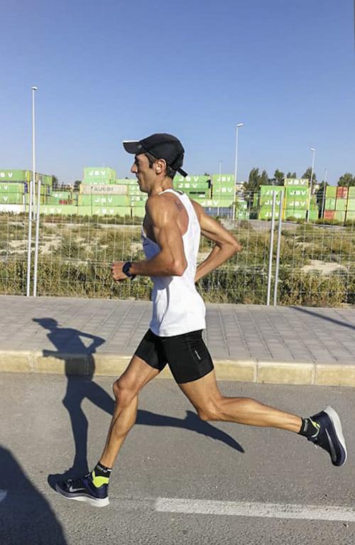 correr entrenar maratón